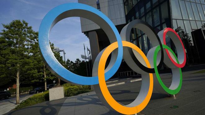 Los aros olímpicos en Tokyo.