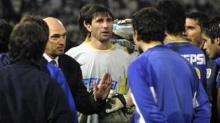Carlos Bianchi junto a Abbondanzieri.