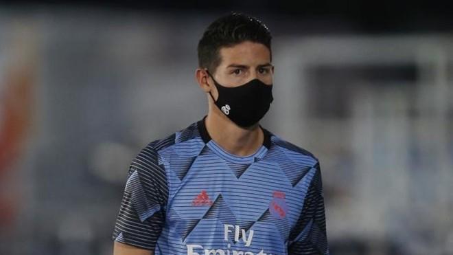 James Rodríguez, durante un partido con el Real Madrid esta...