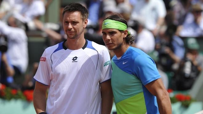 Robin Soderling con Rafael Nadal