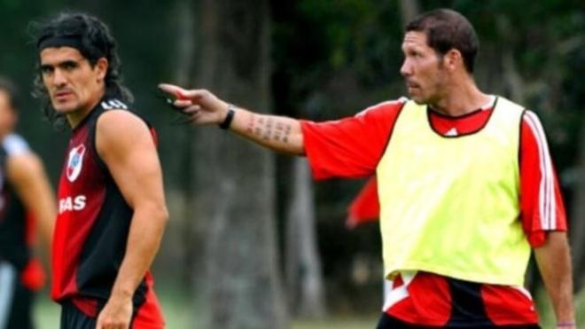 Ariel Ortega y Diego Simeone
