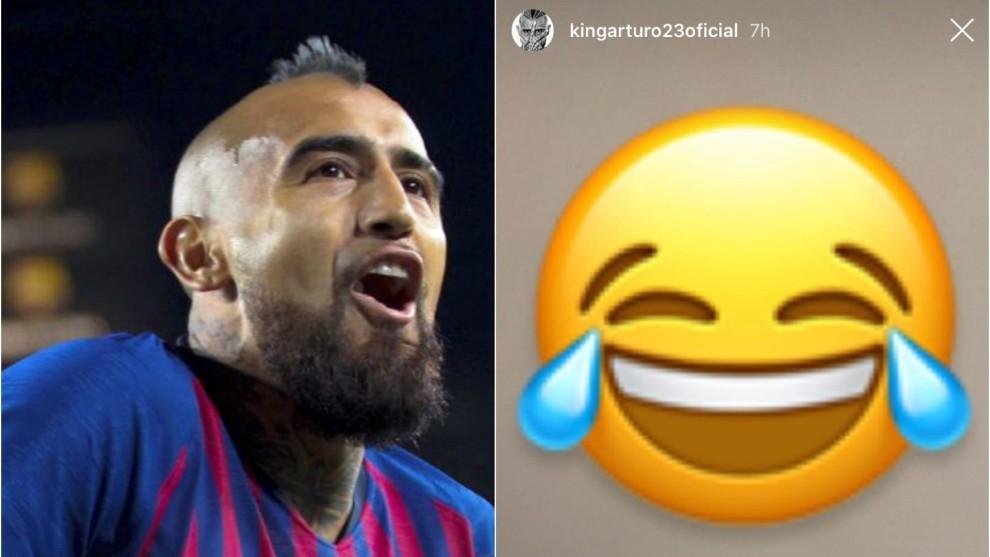 Arturo Vidal se expresó vía Instagram.