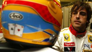 Fernando Alonso, durante la temporada 2009, la última con Renault,