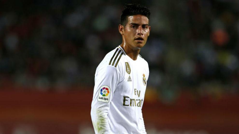 James Rodríguez, en uno de sus partidos con el Real Madrid.