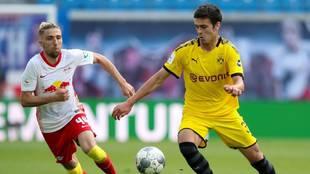 Gio Reyna, en un partido con el Borussia Dortmund en la Bundesliga.