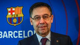 Bartomeu habló de todo en Barcelona.