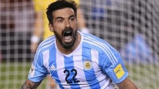 Lavezzi en la Selección Argentina.