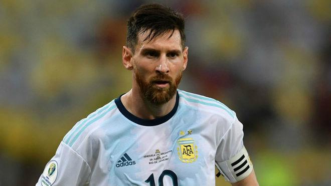 Leo Messi en la Copa América 2019.