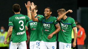 Muriel celebra con sus compañeros el gol anotado ante el Udinese.