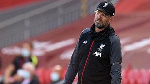 Klopp se lamenta en el partido del Liverpool ante el Burnley