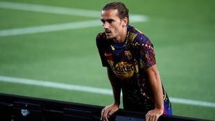 Antoine Griezmann se lesionó en Valladolid