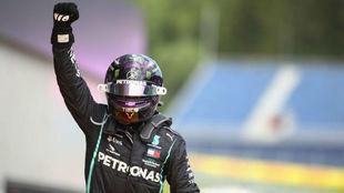 Hamilton celebra su triunfo en Estiria