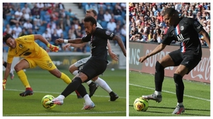 Neymar y Mbappé, en acción contra Le Havre.