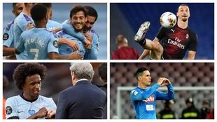 Silva, Willian, Ibrahimovic y Callejón, entre otros.