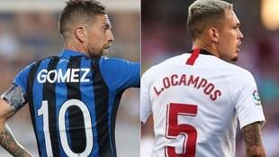 Alejandro Gómez, en el Atalanta, y Lucas Ocampos, en Sevilla,...