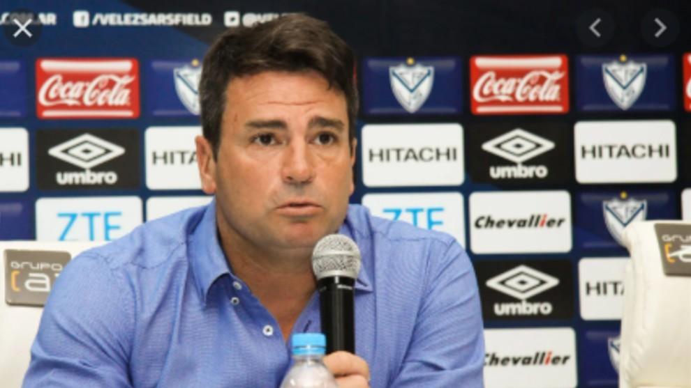Pablo Cavallero, mánager de Vélez.