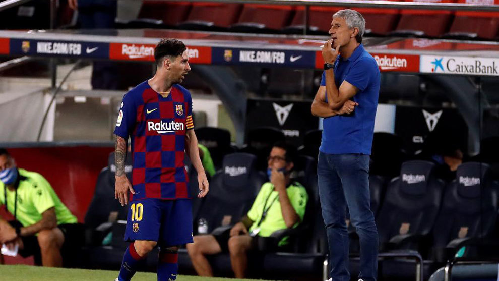 Messi y Setién, divorcio público: todas las frases de su cruce ...