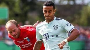 Thiago, en un partido con el Bayern.