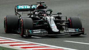 Lewis Hamilton, durante la Q3 del GP de Hungría de 2020
