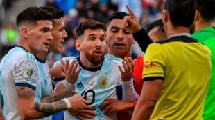 Argentina vs Chile en la última Copa América