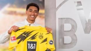 Jude Bellingham, con la camiseta del Borussia Dortmund.