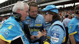 Pat Symonds, Steve Nielsen y Fernando Alonso