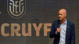 Jordi Cruyff, en su presentación como seleccionador de Ecuador en...