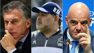 Maradona apuntó contra el máximo dirigente de FIFA y el ex...