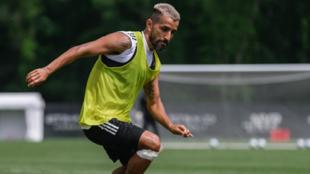 Maxi Moralez, durante un entrenamiento con el New York City FC