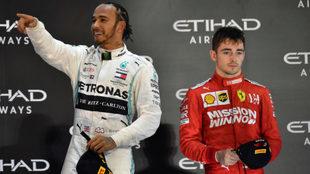 Lewis Hamilton y Charles Leclerc