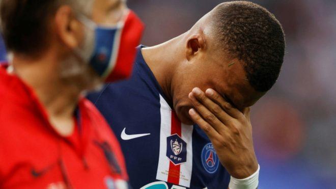 Kylian Mbappé, lesionado