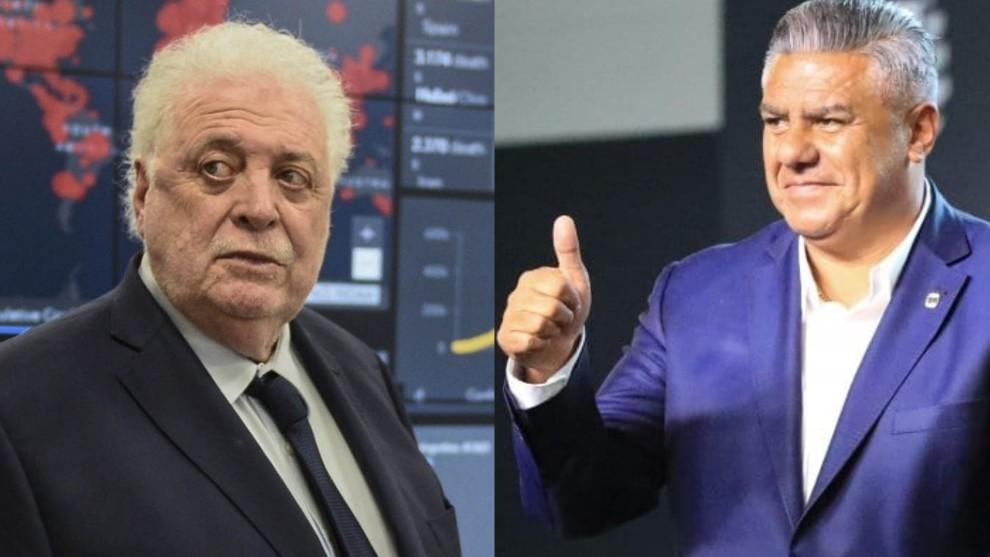 Ginés González García, Ministro de Salud de la Nación y Claudio Tapia, presidente de la AFA,