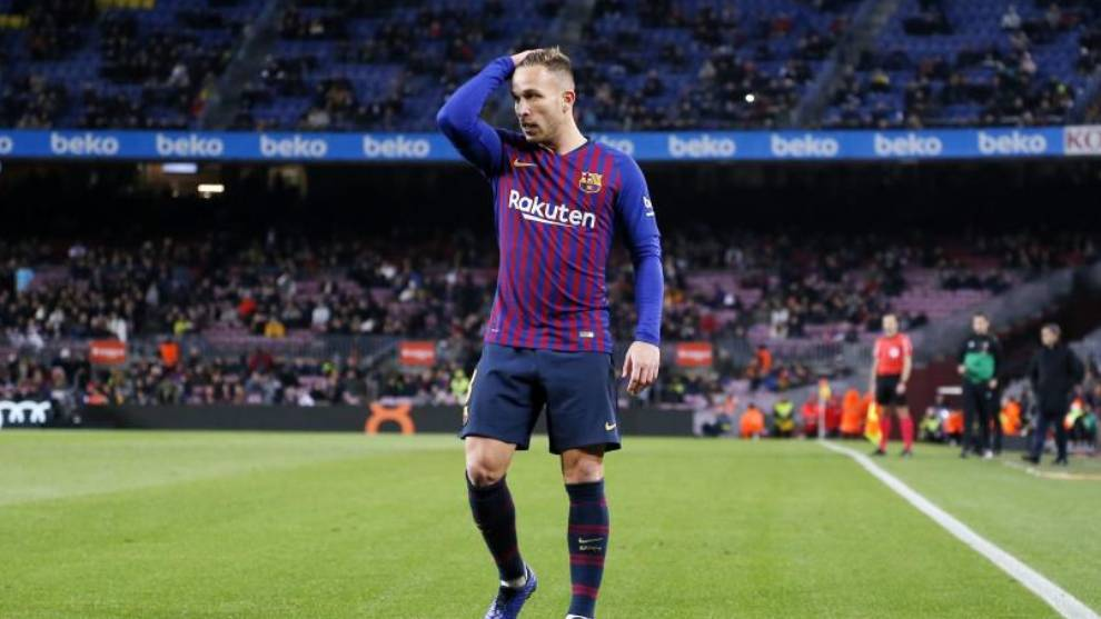 Arthur, en un partido con el Barcelona esta temporada en LaLiga.