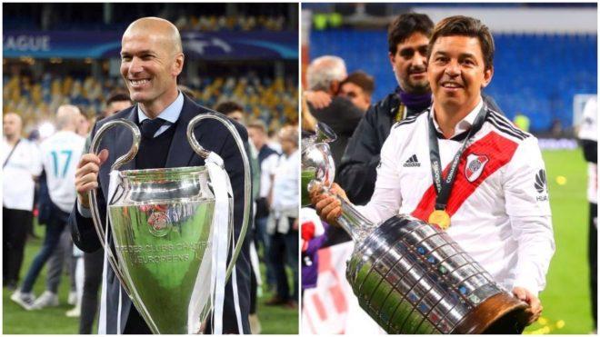 Zinedine Zidane y Marcelo Gallardo