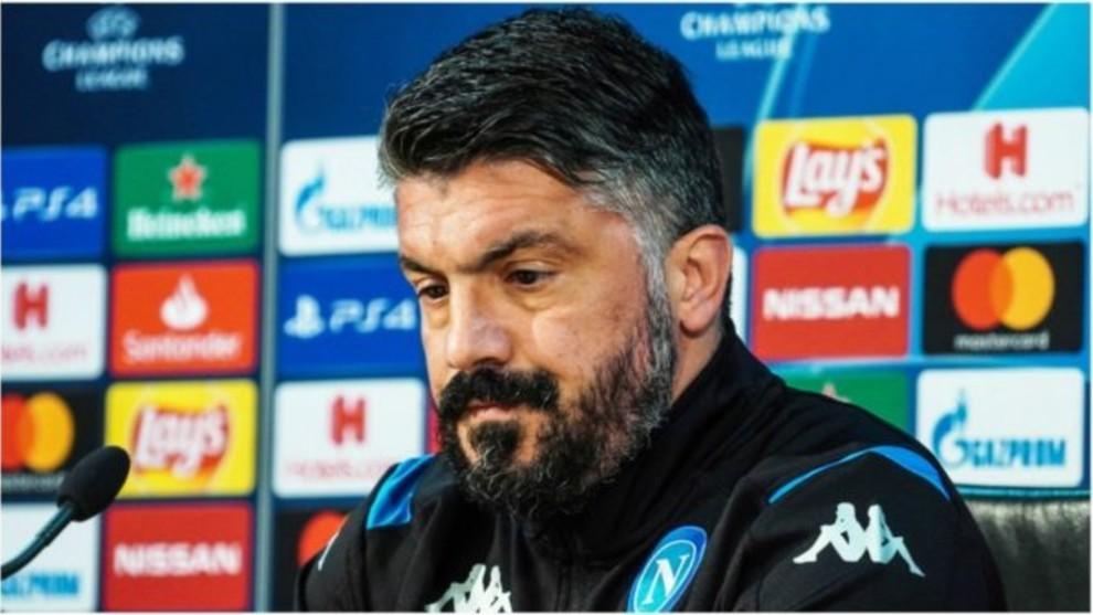 Gattuso durante una conferencia de prensa.