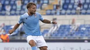 Immobile en el partido contra el Brescia.