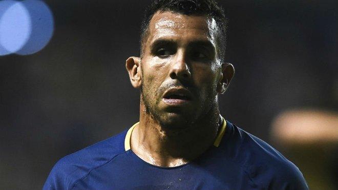 Carlos Tevez, durante un partido con Boca
