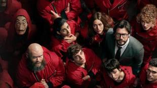 Imagen de algunos actores de 'La Casa Papel'.