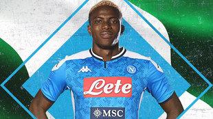 Victor Osimhen, nuevo jugador del Napoli.