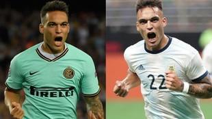 Lautaro Martínez brilló con la camiseta del Inter y el seleccionado...