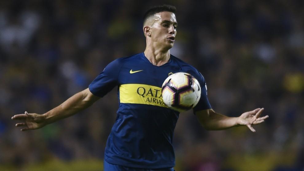 Iván Marcone durante un partido con Boca.