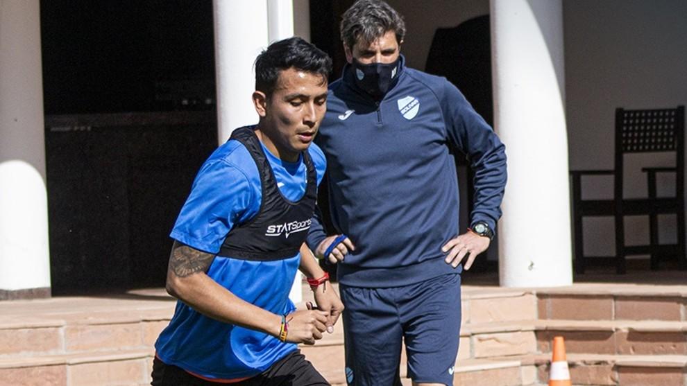 Bolívar volvió a los entrenamientos una semana atrás.