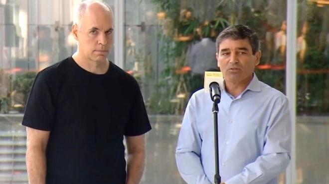 Horacio Rodríguez Larreta y Fernán Quiros
