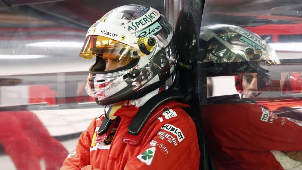 Sebastian Vettel, piloto de Ferrari de Fórmula 1.