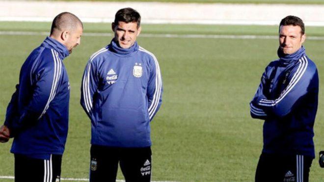 Roberto Ayala junto a Lionel Scaloni y Walter Samuel
