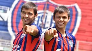 Oscar y Ángel Romero, jugadores de San Lorenzo.