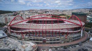 Aspecto del estadio Da Luz, en Lisboa.