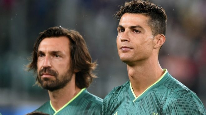 Pirlo ahora será entrenador de Cristiano Ronaldo.