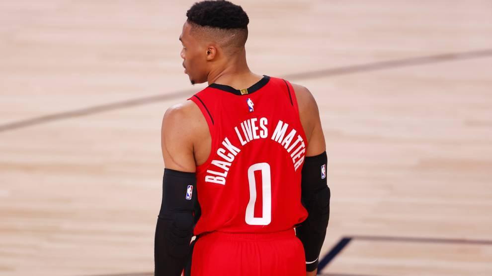 Russell Westbrook, en un partido con los Rockets.