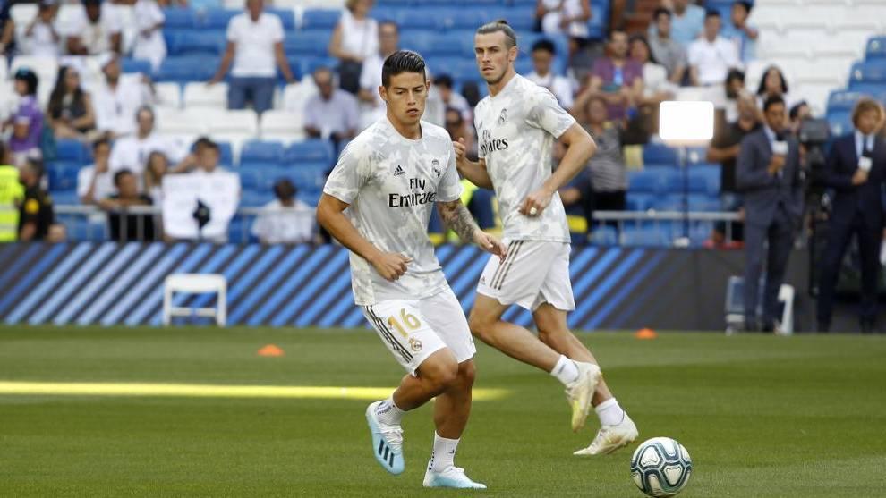 James y Bale, dos de los jugadores del Real Madrid que podrían salir.